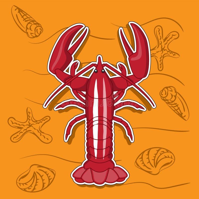 Animal arthropod cancer red, icon sticker logo. Vector image. Eps10 vector illustration