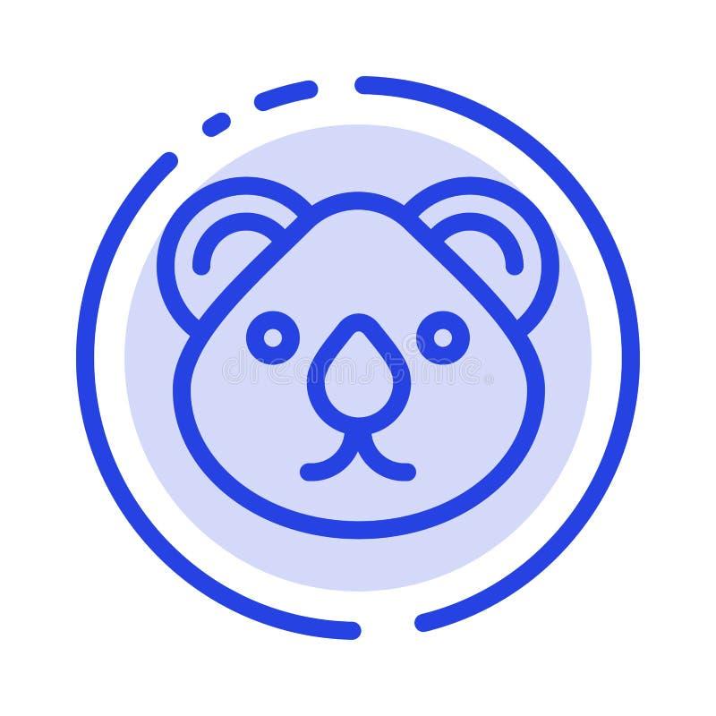Animal, Austrália, grupos da cidade, canguru, ícone de Sydney Blue Dotted Line Line ilustração stock