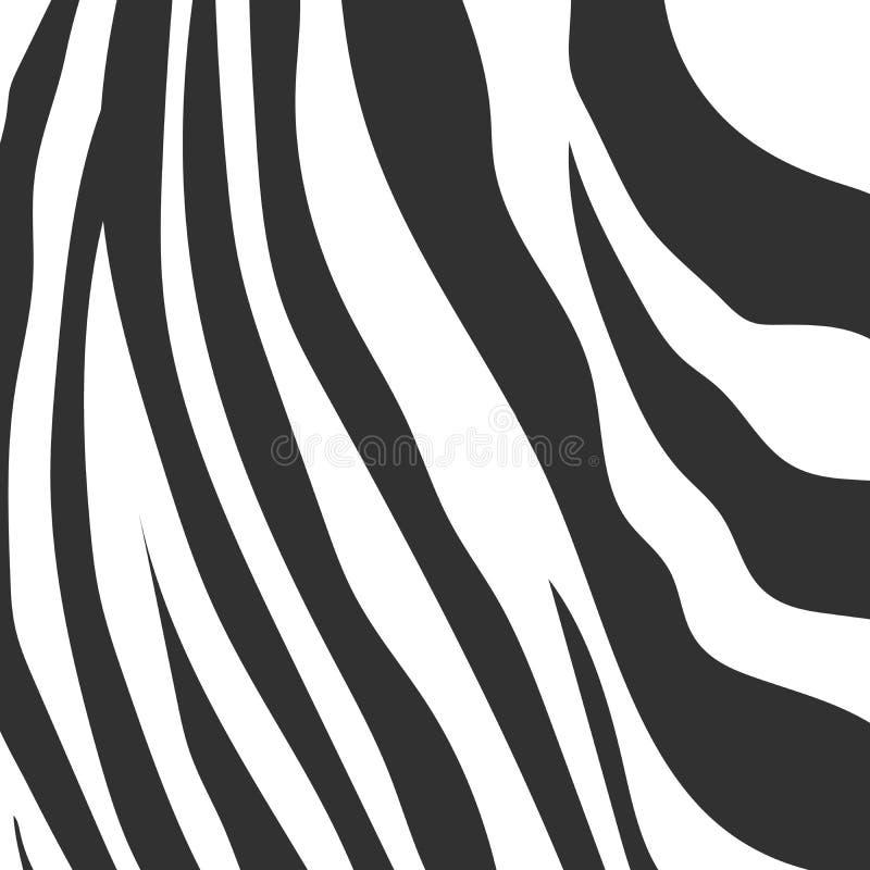 Animal background pattern zebra skin texture. Stock  illustration royalty free illustration