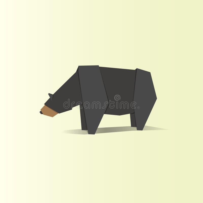 Animal bear origami vector illustration stock illustration