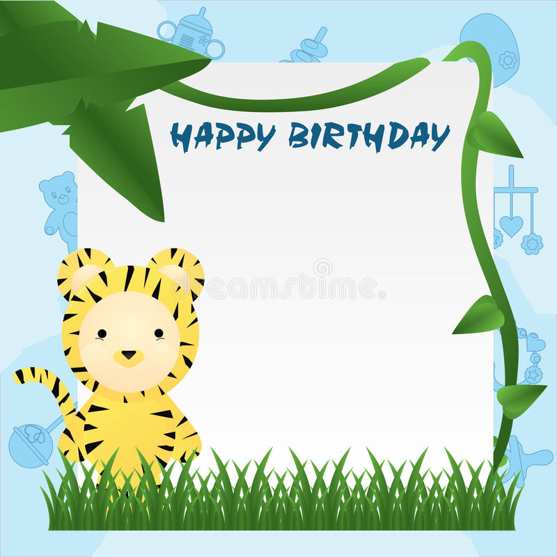 Download Animal Birthday Card stock vector. Image of decoration - 14103724