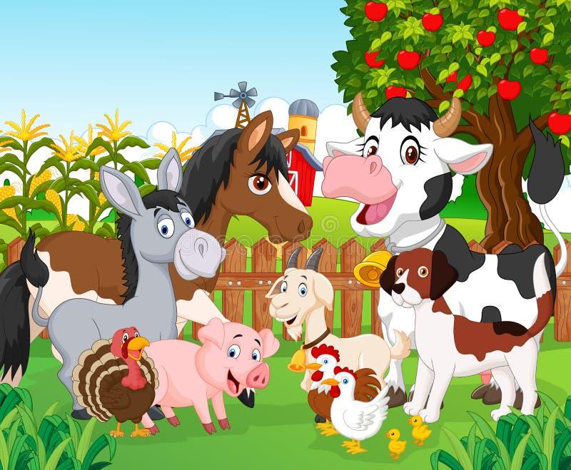 Animal bonito dos desenhos animados ilustração do vetor