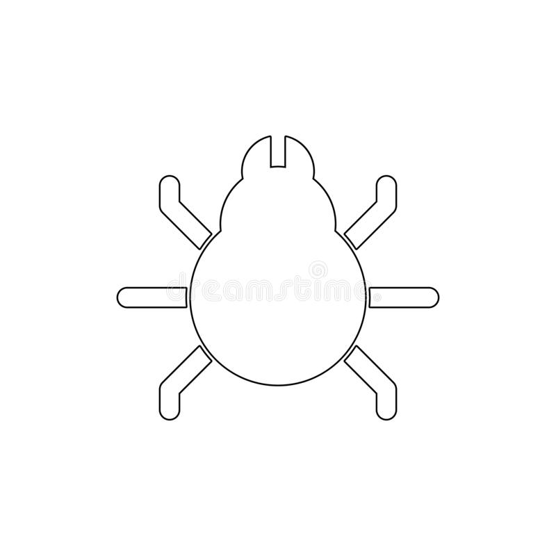 Animal bug code debug insect outline icon. Signs and symbols can be used for web, logo, mobile app, UI, UX. On white background stock illustration