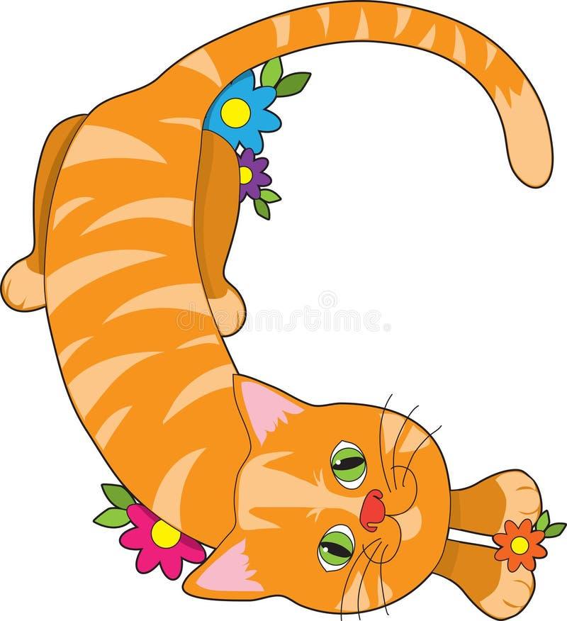 Animal C do alfabeto ilustração stock