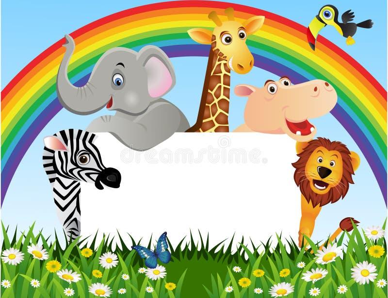 Download Animal cartoon stock vector. Image of cheer, jungle, animal - 18118019