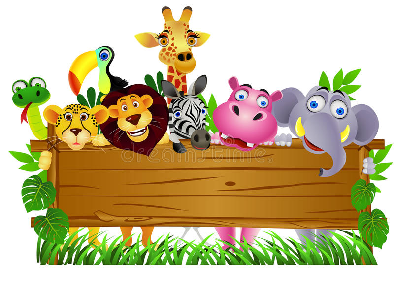 Download Animal cartoon stock vector. Image of friend, group, funny - 20601859