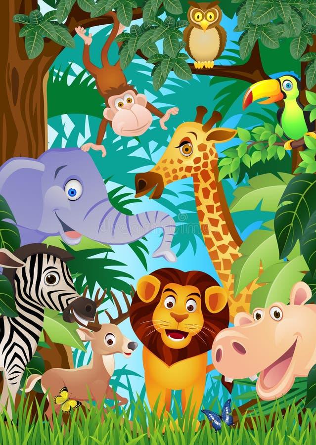 Download Animal cartoon stock vector. Illustration of beauty, green - 22984914