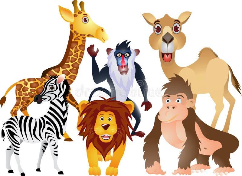 Animal cartoon collection royalty free illustration