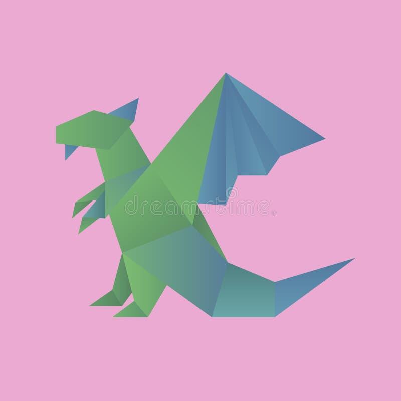 Animal cartoon origami icon vector stock illustration