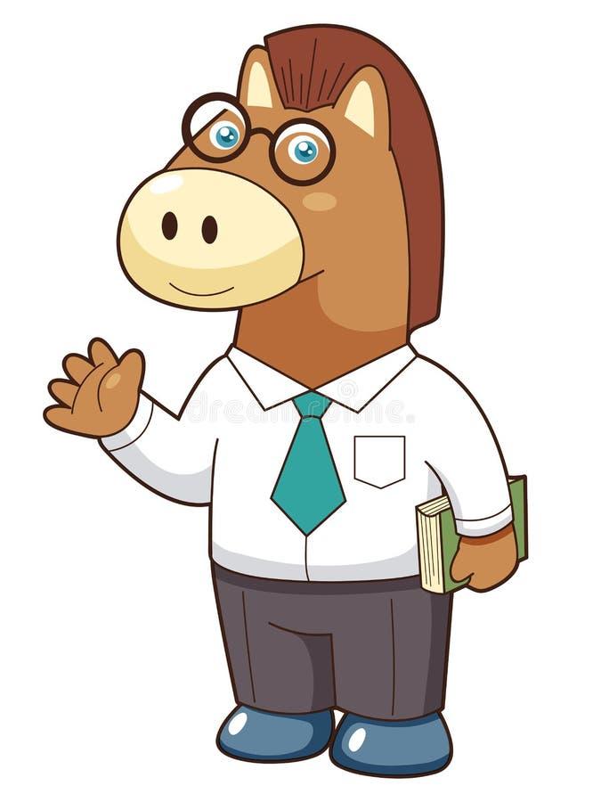 Animal charactor. Illustration of animal horse charactor royalty free illustration