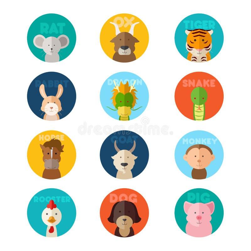 Download Animal chino del zodiaco ilustración del vector. Ilustración de cerdo - 42444877