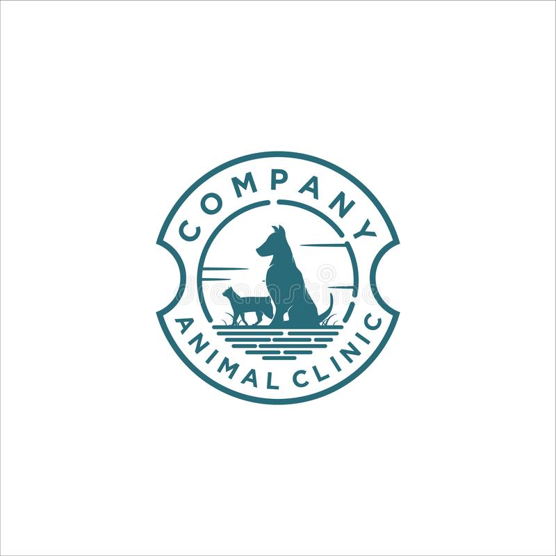 Animal clinic logo designs royalty free illustration