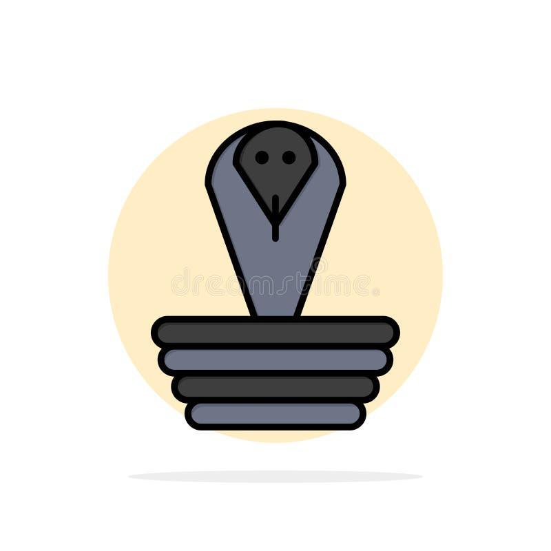 Animal, cobra, la India, icono plano del color de rey Abstract Circle Background stock de ilustración