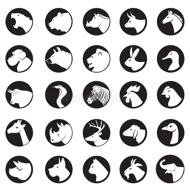 Animal collection. Animal coins or collection vector illustration stock illustration