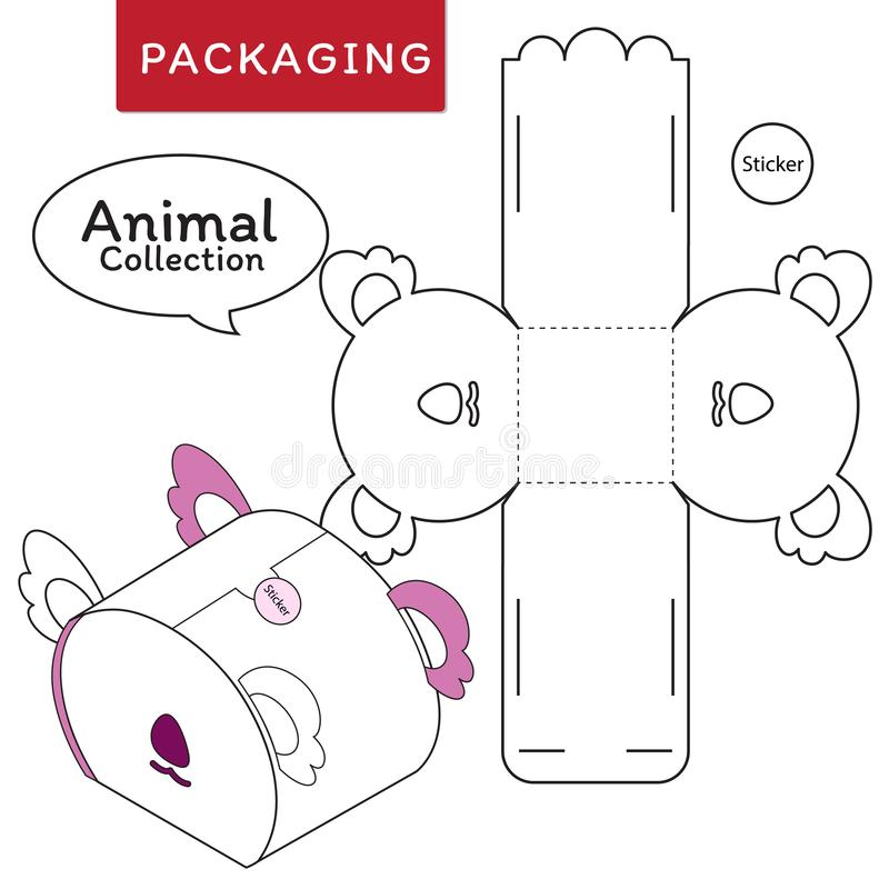 Animal collection vector Illustration of Box. stock illustration