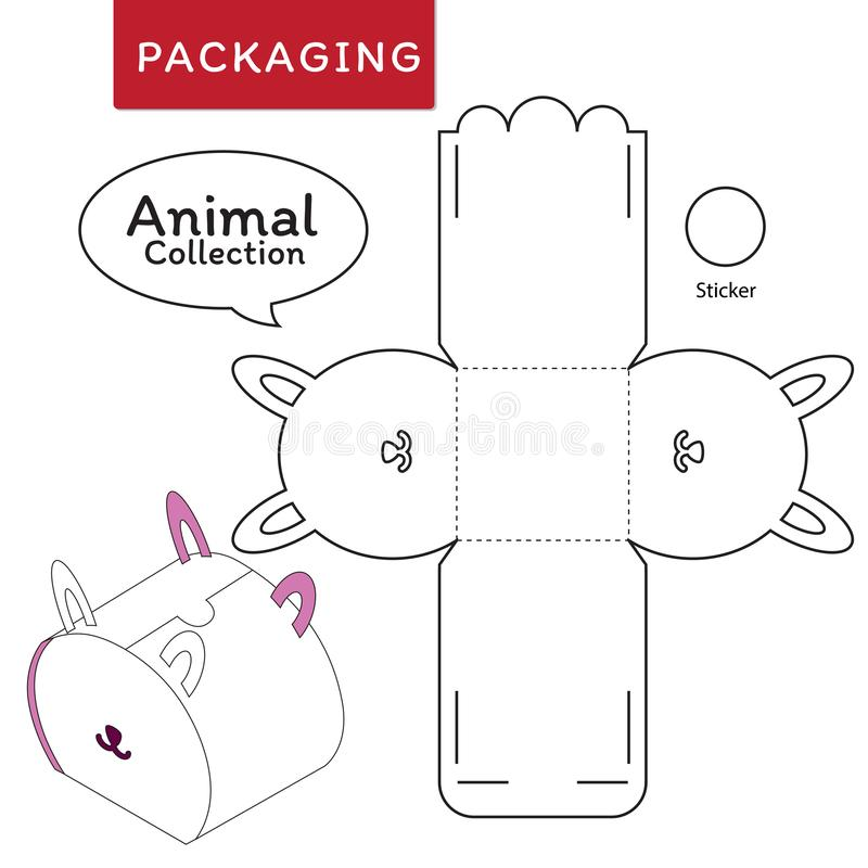 Animal collection vector Illustration of Box. vector illustration