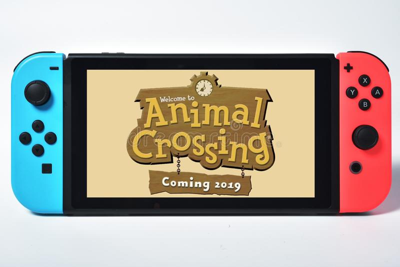 Animal Crossing 2019 Video Game Preview for Nintendo Switch royalty free stock photo