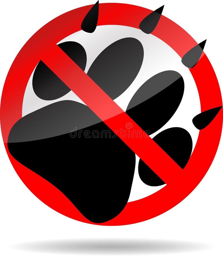 Animal da cópia do pé da proibição ilustração royalty free