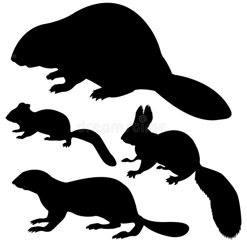 Animal da silhueta ilustração stock