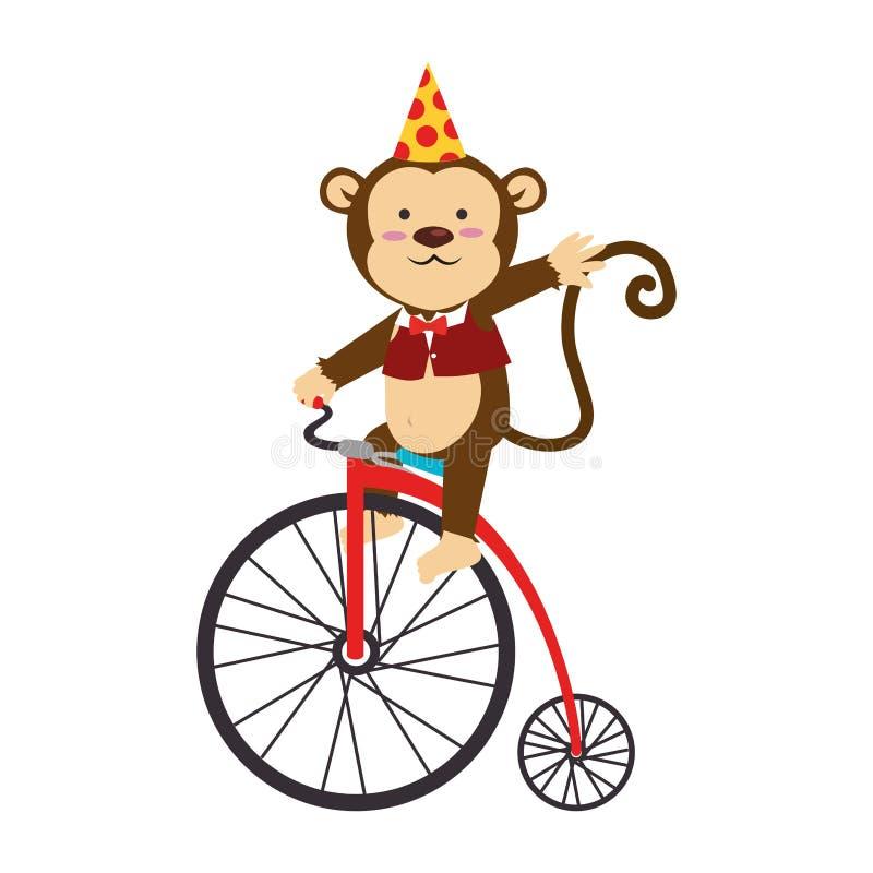 animal de circo lindo del mono libre illustration