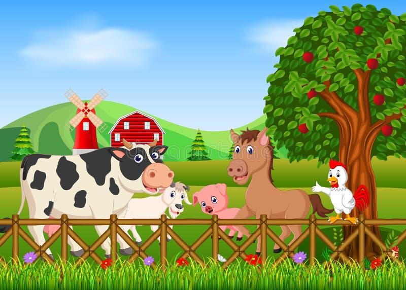 Animal de collection dans la ferme illustration de vecteur