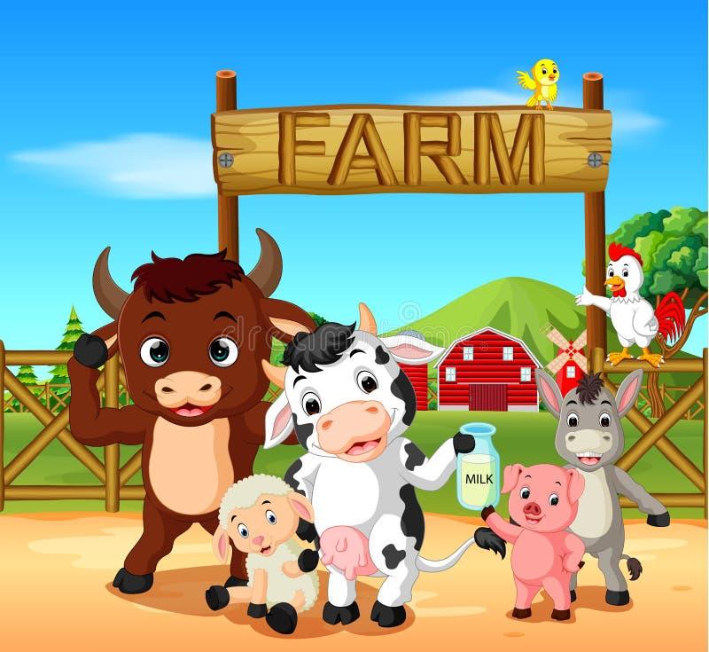 Animal de collection dans la ferme illustration stock