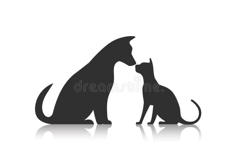 Animal de estimação dos amigos ilustração stock