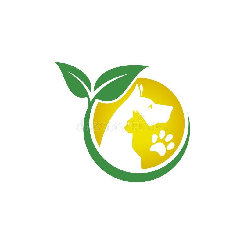 Animal de estimação e veterinário Logo, grupo animal do amante ilustração stock