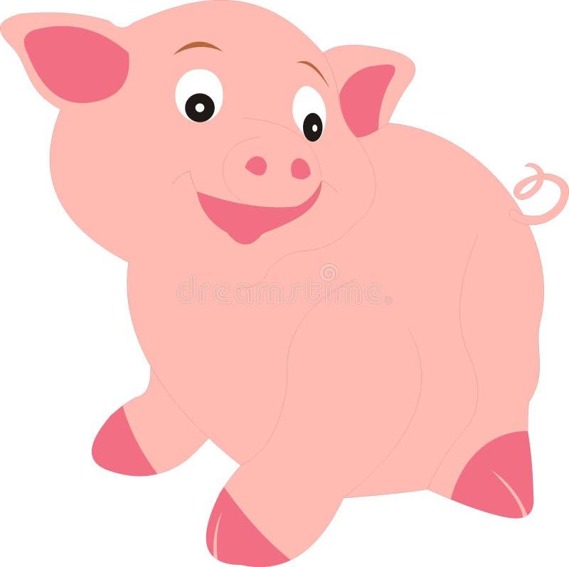 Animal de ferme de porc sur la campagne photos stock