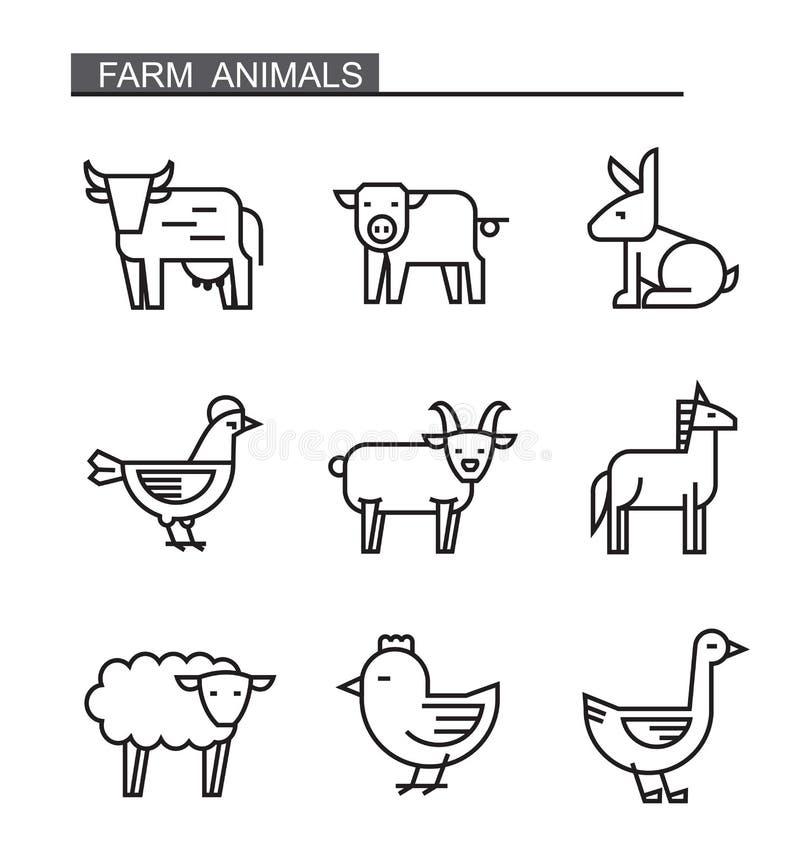 Animal de ferme plat illustration stock