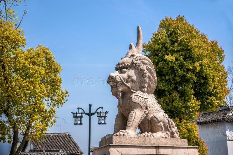 Animal de la ciudad de Suzhou Luzhi y x22; End& x22 del Lu; fotografía de archivo