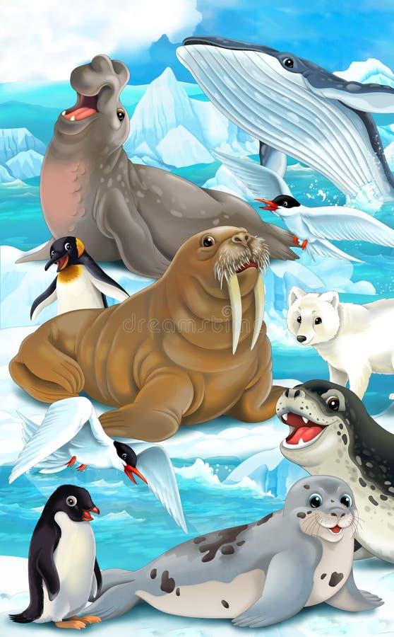 Animal de la historieta - ejemplo para los niños stock de ilustración