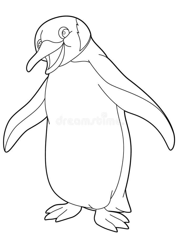 Animal De La Historieta - Página Del Colorante Stock de ilustración ...