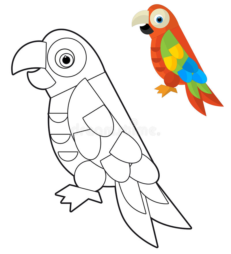 Animal de la historieta - página del colorante - ejemplo para los niños libre illustration