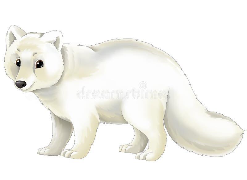 Animal de la historieta - zorro ártico stock de ilustración