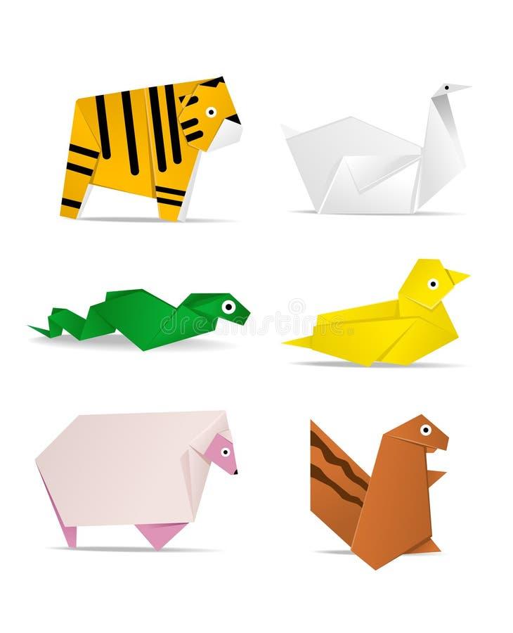 Animal de Origami ilustração royalty free