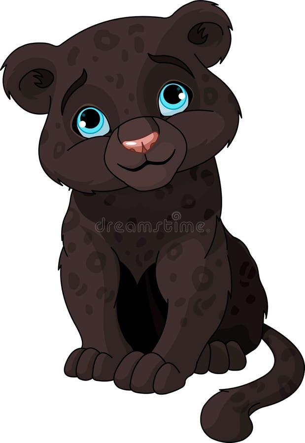 Animal de panthère noire illustration de vecteur