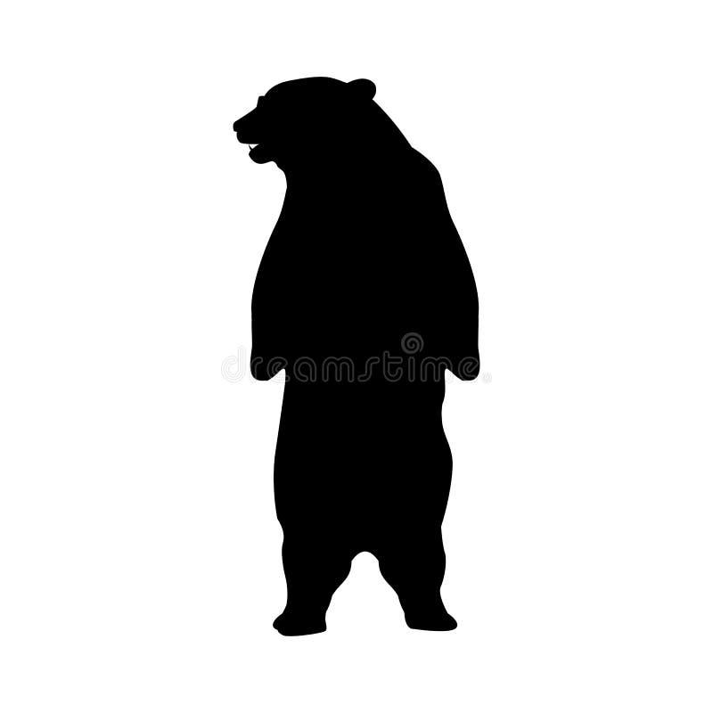 Animal de silhouette d'ours illustration de vecteur