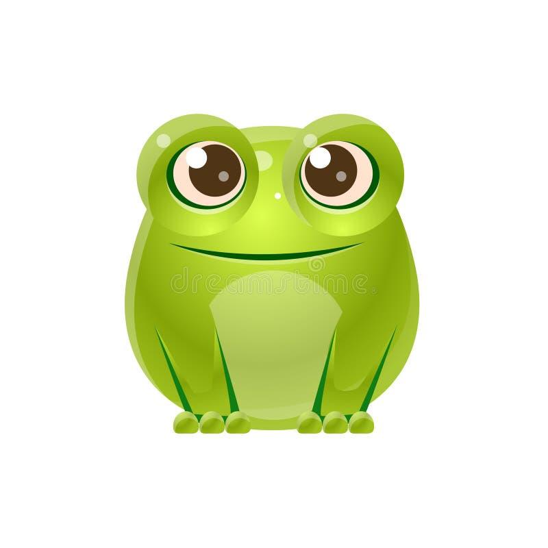 Animal del bebé de la rana en estilo dulce femenino stock de ilustración