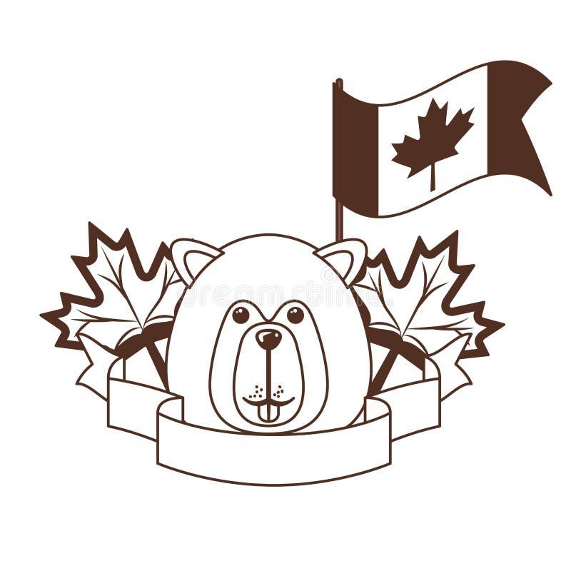Animal del bosque del castor del diseño de Canadá libre illustration