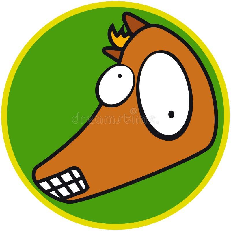 Animal del campo - caballo libre illustration