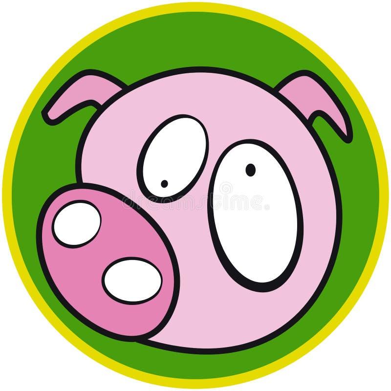 Animal del campo - cerdo ilustración del vector