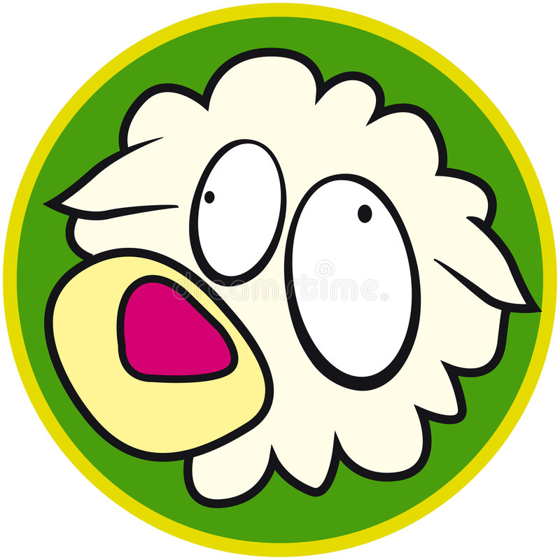 Animal del campo - oveja stock de ilustración