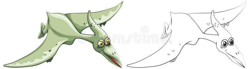 Animal del garabato para el dinosaurio del pájaro ilustración del vector