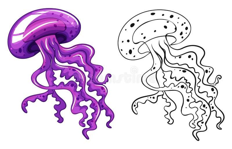 Animal del garabato para las medusas libre illustration