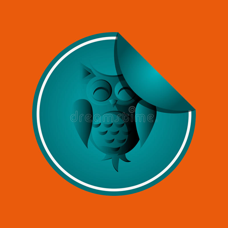 Animal design. owl icon. Isolated illustration ,. Animal concept with icon design, illustration 10 eps graphic vector illustration