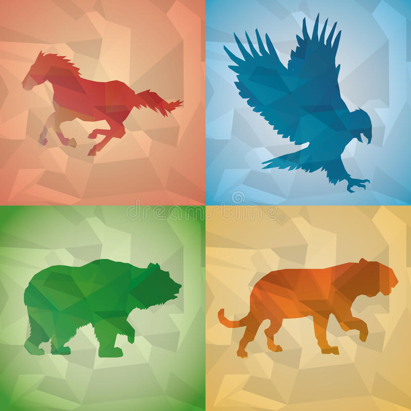 Animal design. Polygon concept. Shape and Origami icon, vector illustration. Animal concept with icon design, vector illustration 10 eps graphic stock illustration