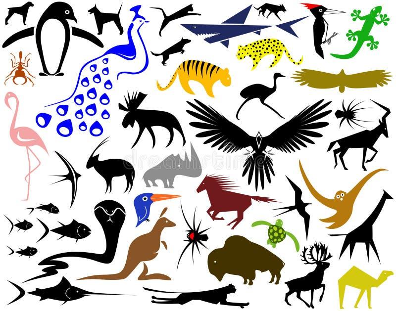 Animal designs stock illustration