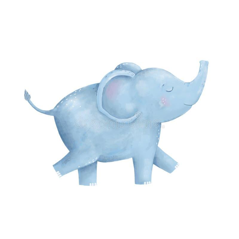 Animal digital do clipart do elefante ilustração royalty free