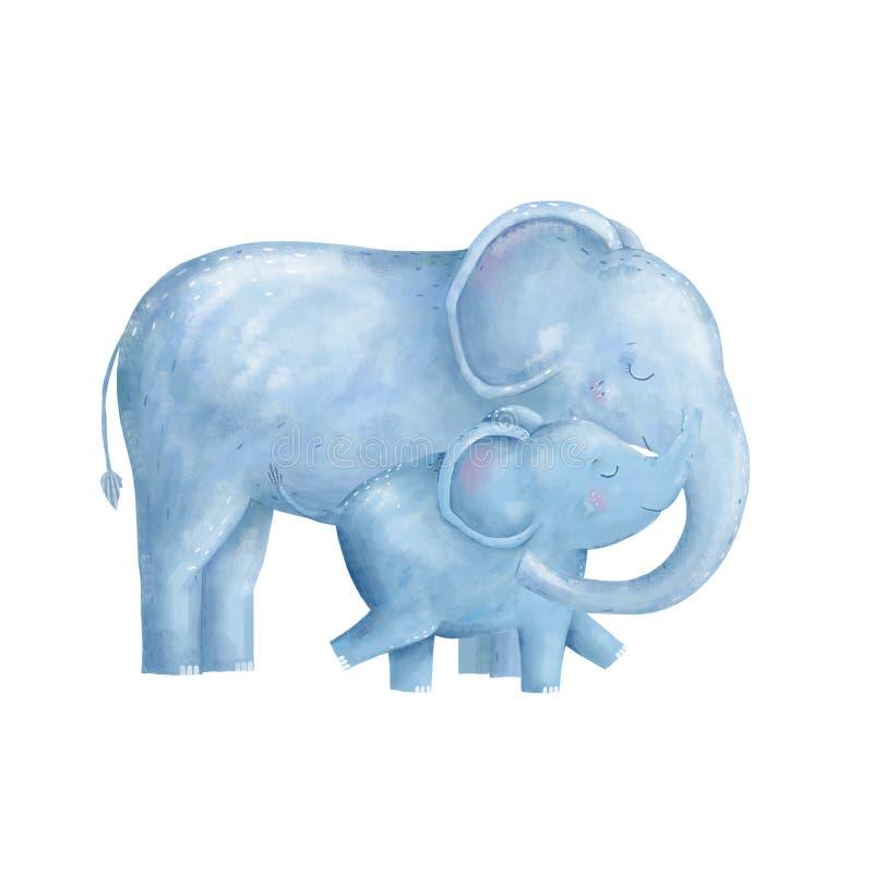 Animal digital do clipart do elefante de África ilustração do vetor
